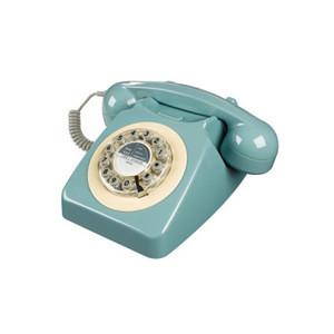 light blue retro phone